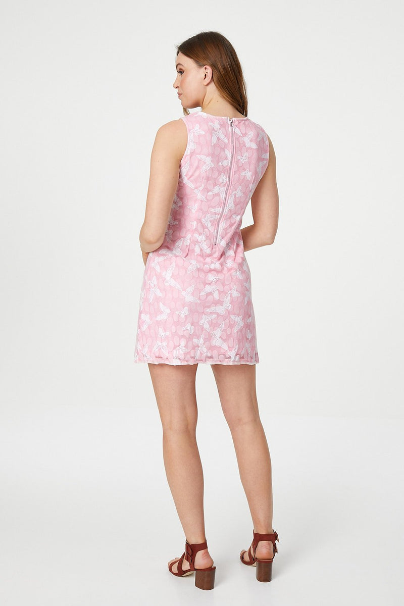 Pink | Butterfly Shift Dress