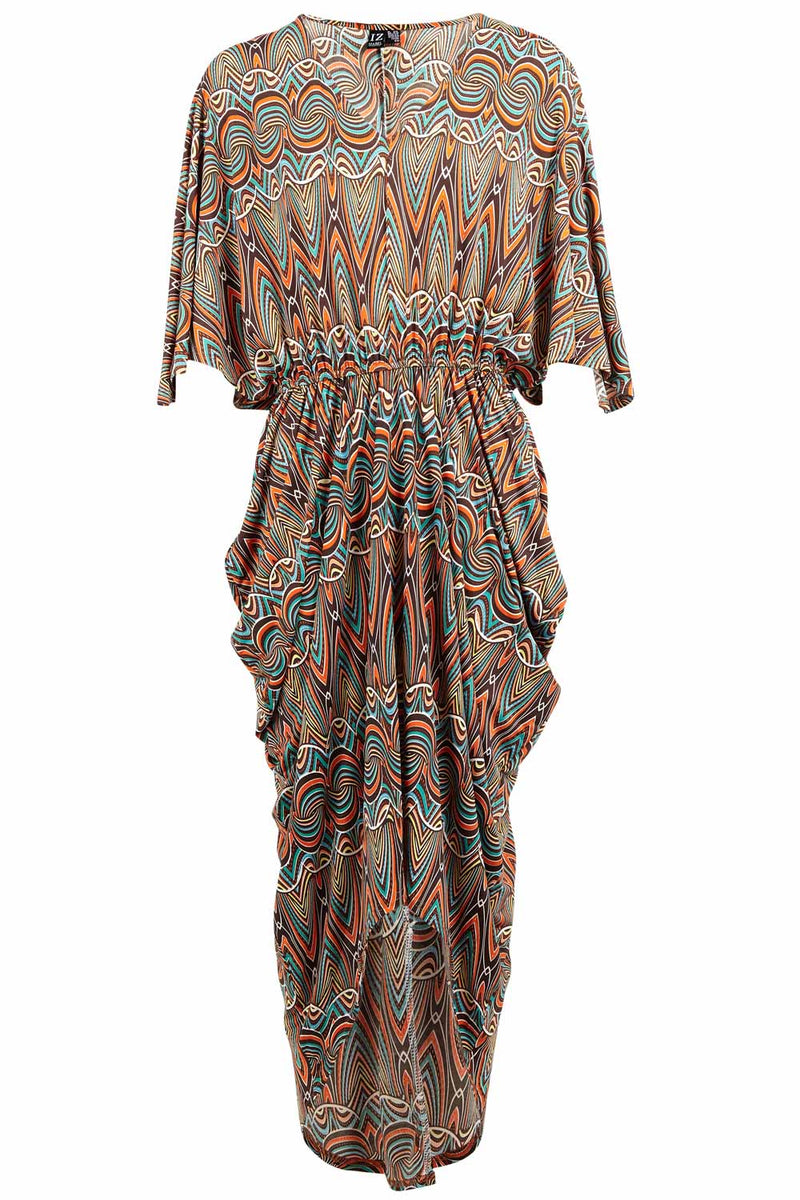 Abstract Waterfall Dress - Izabel London