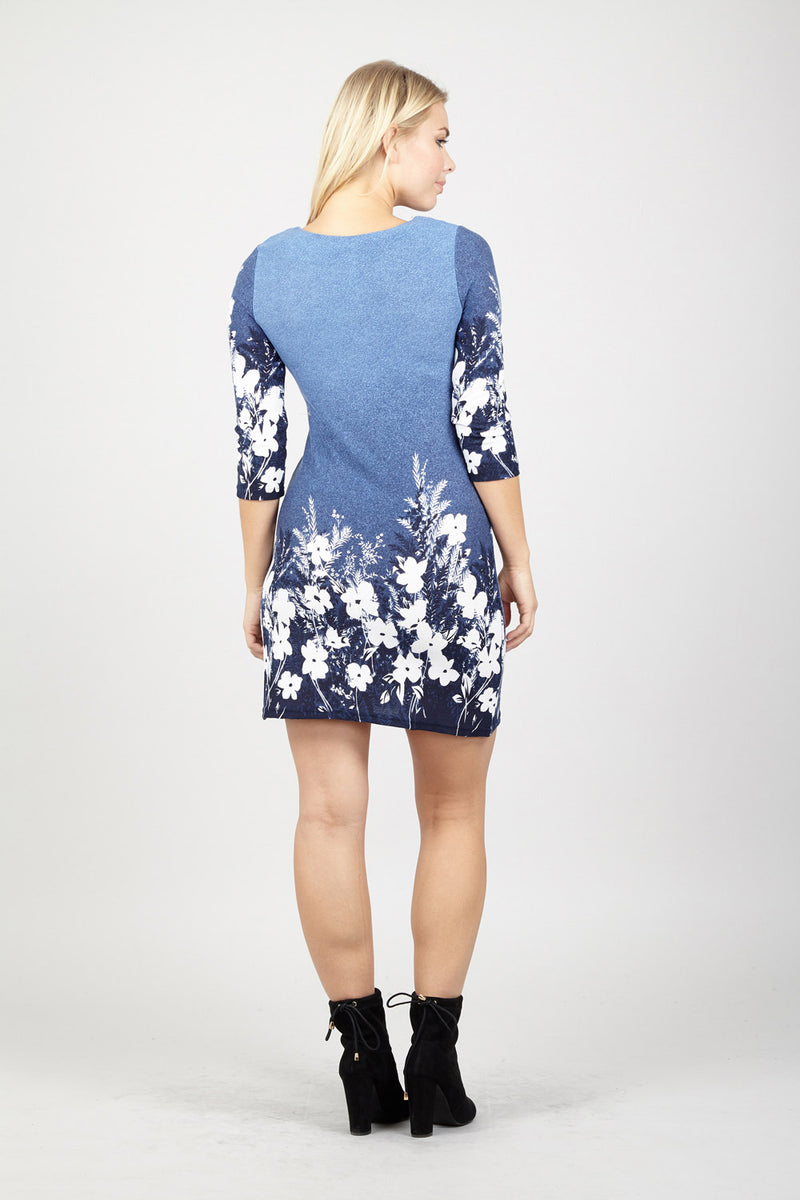 Floral Print Tunic Dress - Izabel London