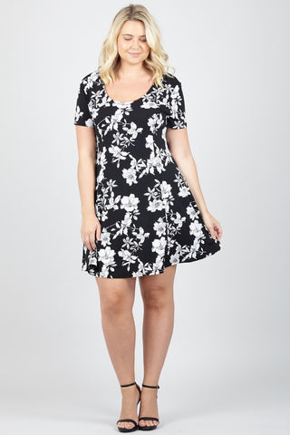 Curve Floral fit & Flare Dress