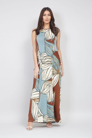 Shirred Neck Maxi Dress