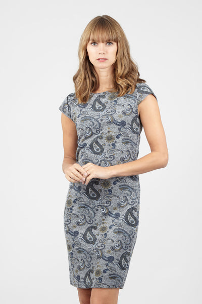Paisley Bodycon Dress - Izabel London