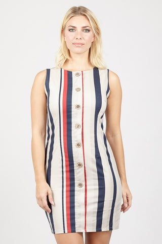 Grid Print Shift Dress