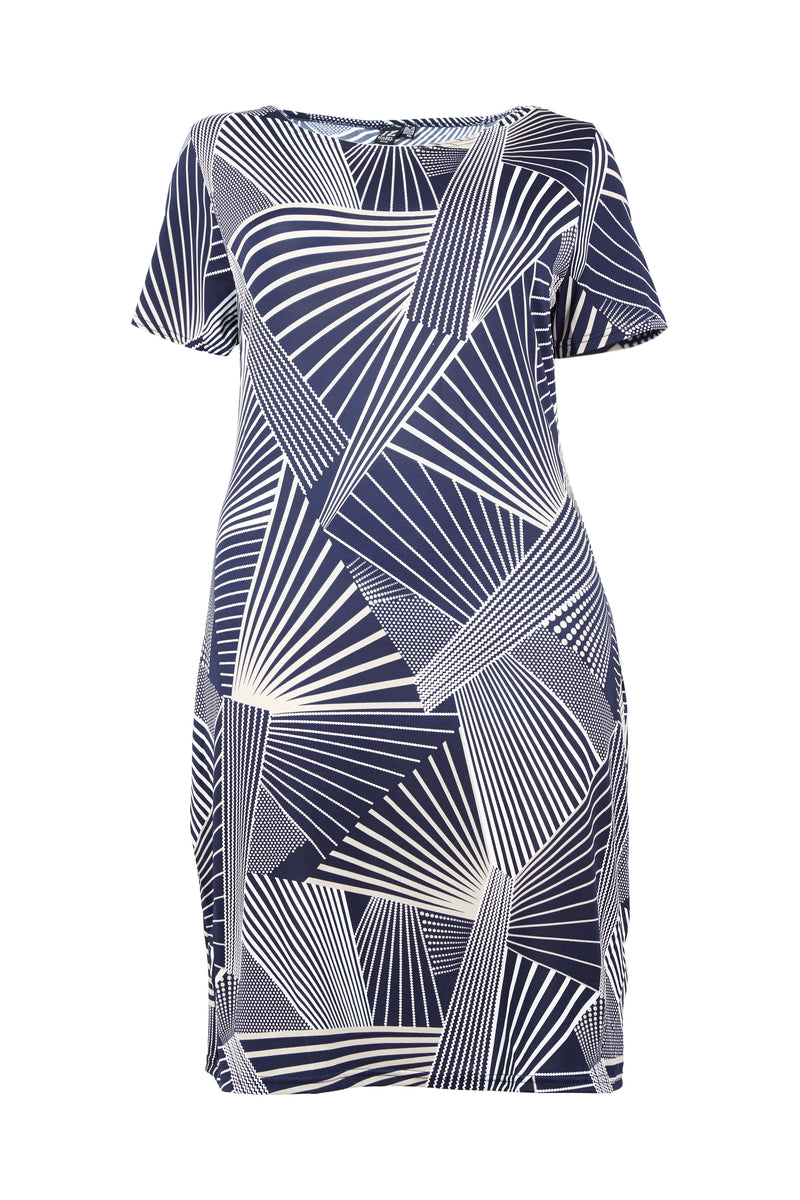 Curve Geo Shift Dress - Izabel London