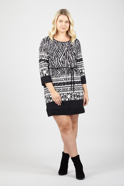 Zebra Tunic Dress - Izabel London