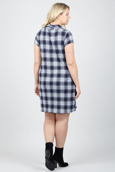Curve Checked Tunic Dress - Izabel London