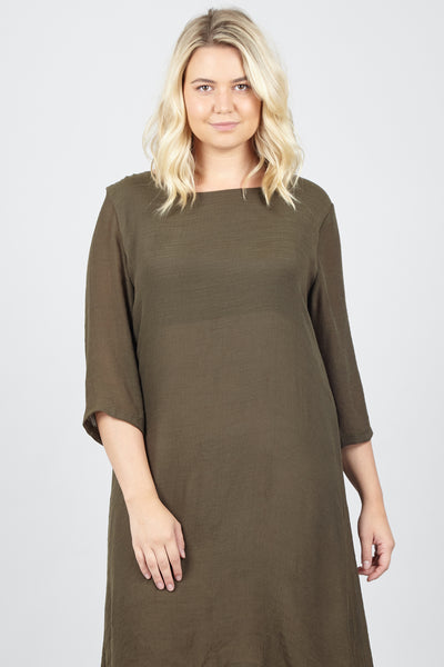 Curve Layered Knit Dress - Izabel London