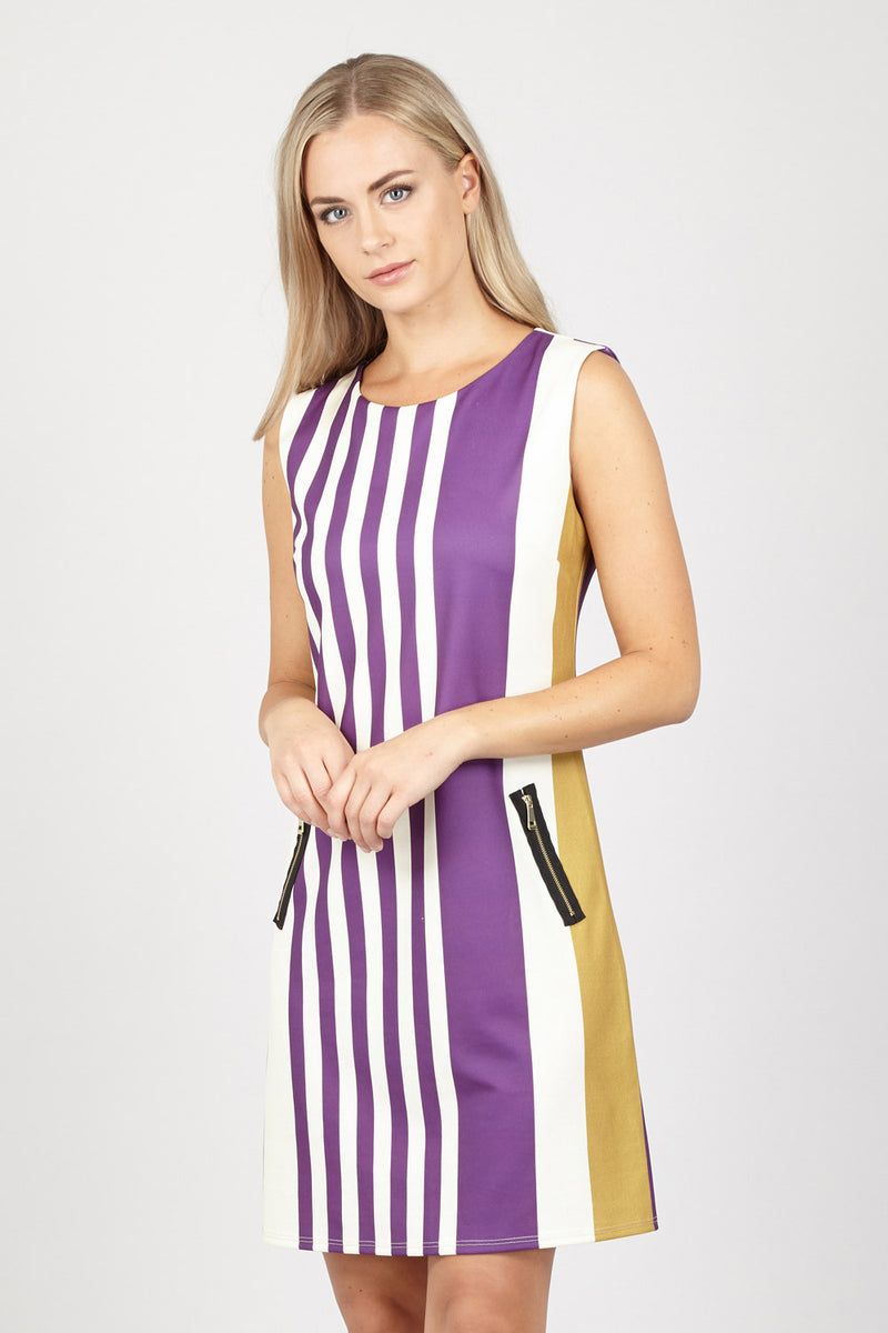 | Stripe Dress With Pockets | Izabel London