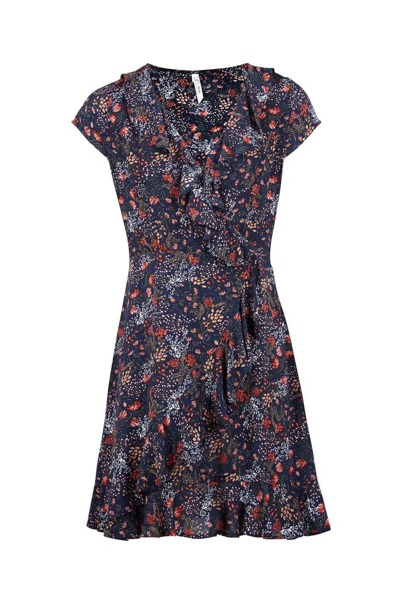 Navy | Ditsy Floral Tea Dress