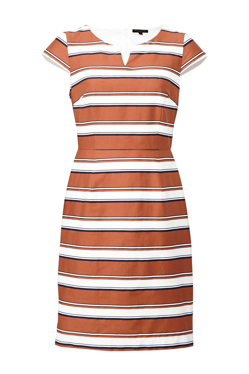 | Striped Tailored Shift Dress | Izabel London