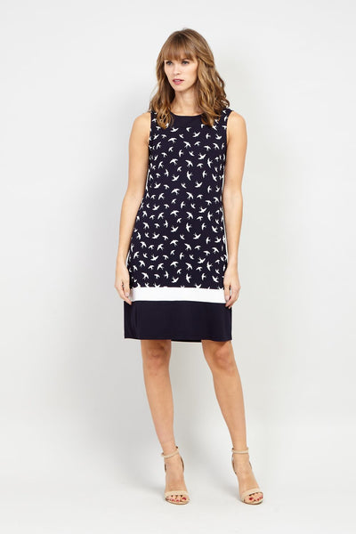 Swallow Print Shift Dress - Izabel London