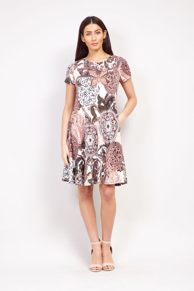 Mosaic Print Swing Dress - Izabel London