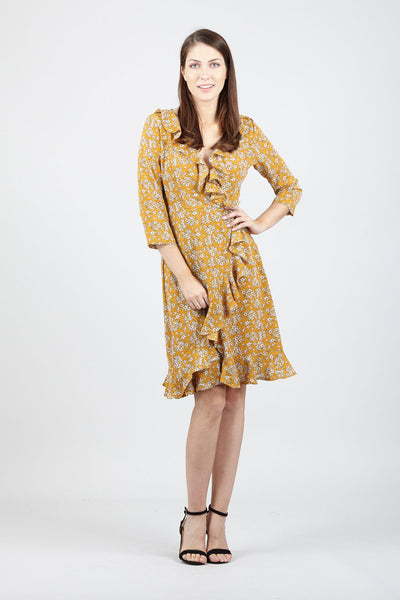 Wrap Dress With Pephem - Izabel London