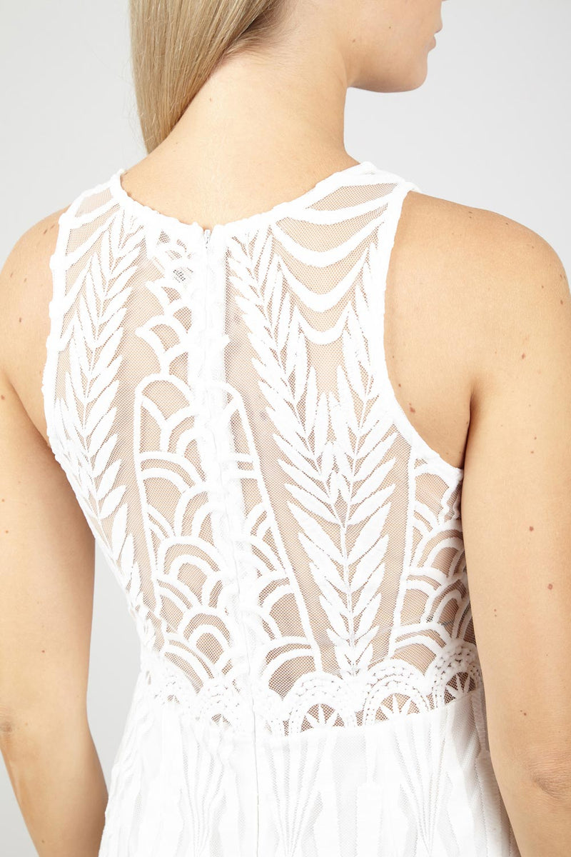 Lace Embellished Maxi Dress - Izabel London