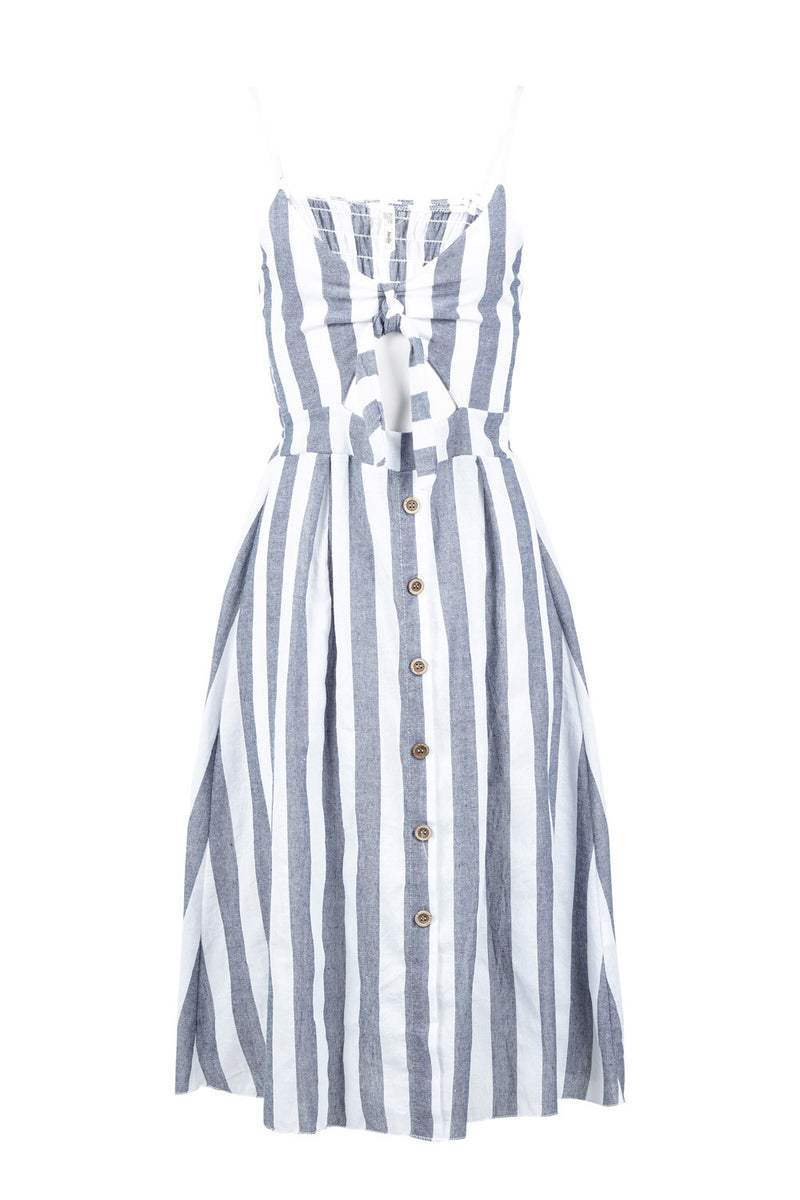 | Striped Cut Out Midi Dress | Izabel London