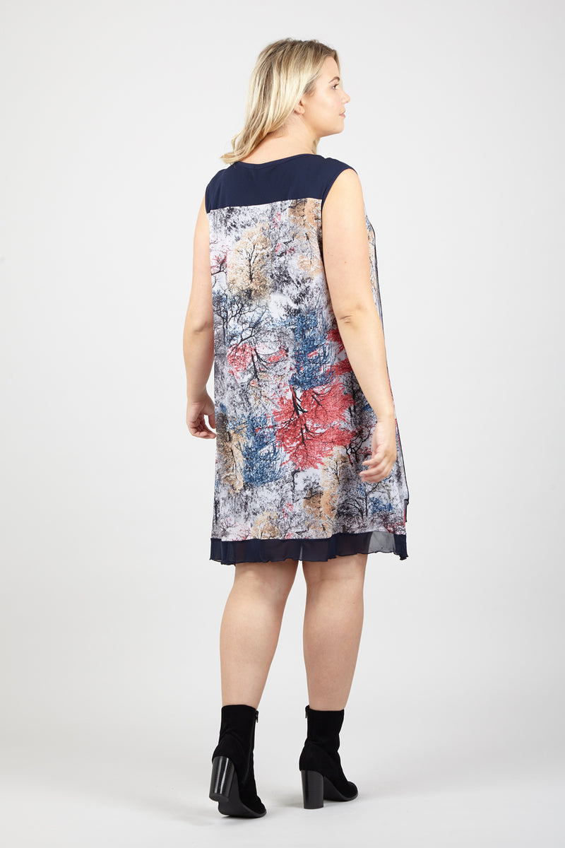Grey | Curve Floral Splatter Dress