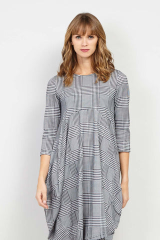 Curve Checked Tunic Dress