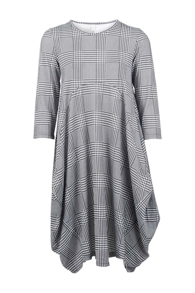 Checked Balloon Dress - Izabel London