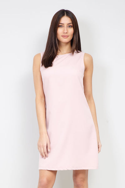 Zip Back Shift Dress - Izabel London