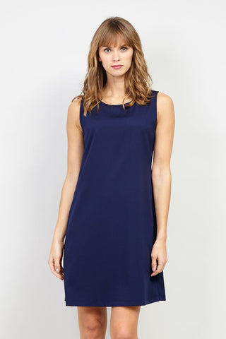 Crossover Front Nautical Fit And Flare Dress