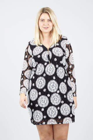 Tribal Wrap Dress