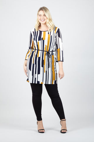 Mono Abstract Dress