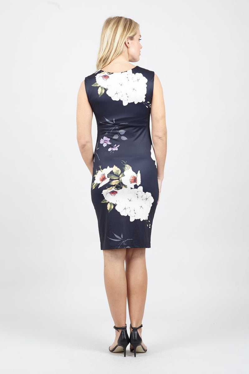Navy | Floral Bodycon Dress