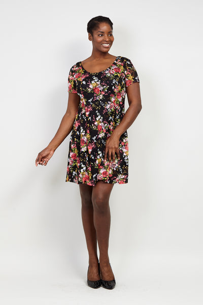Curve Floral Lace Skater Dress - Izabel London