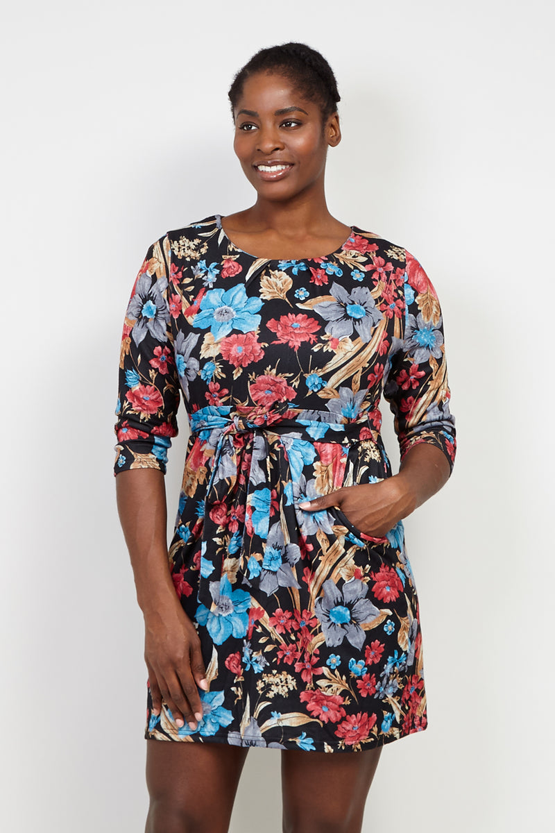 Curve Floral Tulip Dress - Izabel London