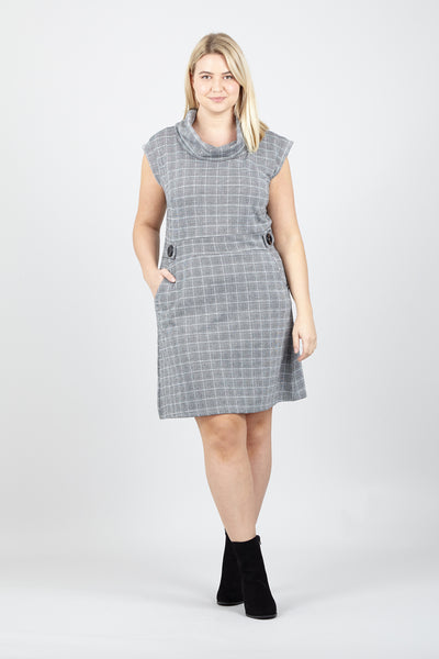 Curve Roll Neck Tunic Dress - Izabel London