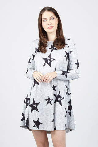 Patchwork Knit Dress