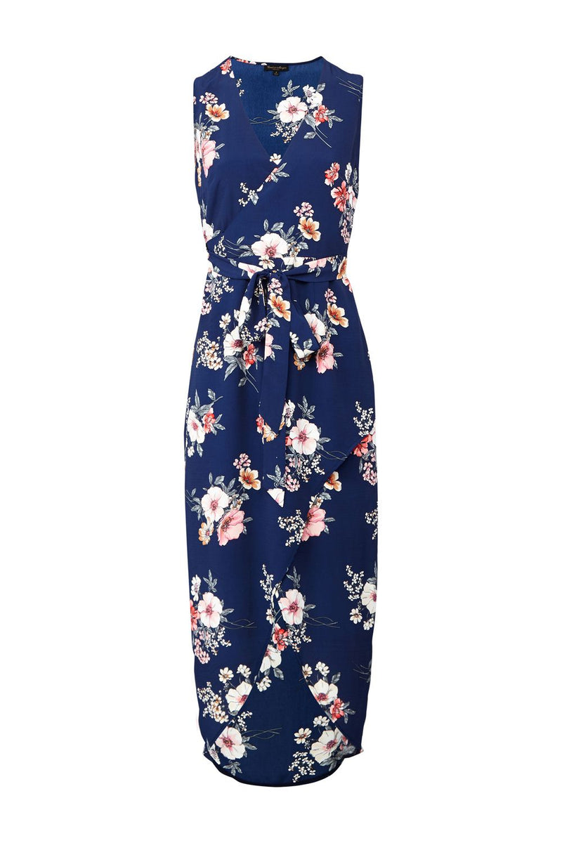 | Floral Wrap Front Maxi Dress | Izabel London