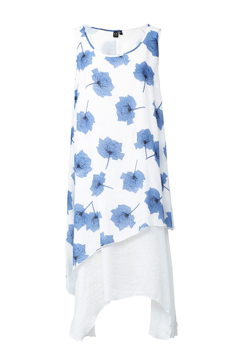 Floral Midi Tunic Dress - Izabel London