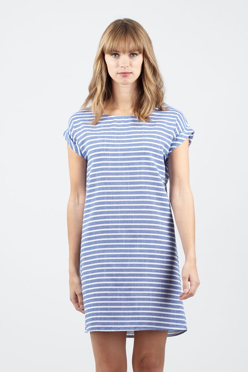 91ef975d765bed Striped T-Shirt Shift Dress - Izabel London