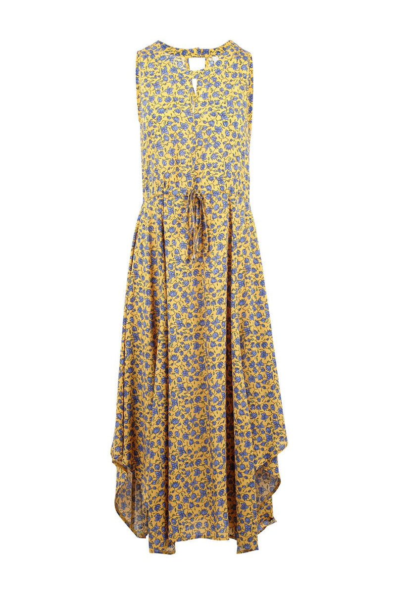 Yellow | Ditsy Floral Maxi Dress