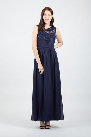 Lace Top Fishtail Maxi Dress