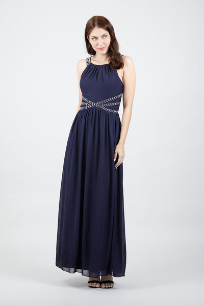 Navy | Embellished Maxi Dress