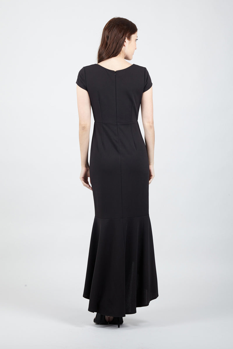 Black | High Low Mermaid Maxi Dress
