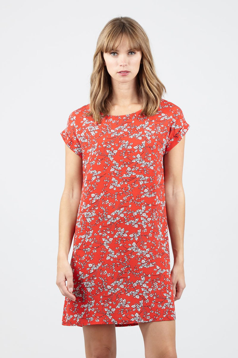 Red | Ditsy Floral Shift  Dress | Izabel London