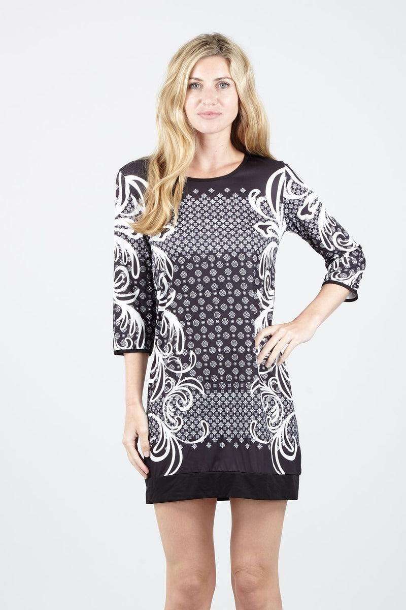 74e232dc03 Baroque Print Shift Dress – Izabel London