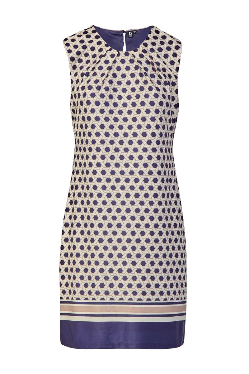 Geo Print Shift Dress - Izabel London