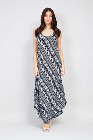 Mosaic Print Shift Dress