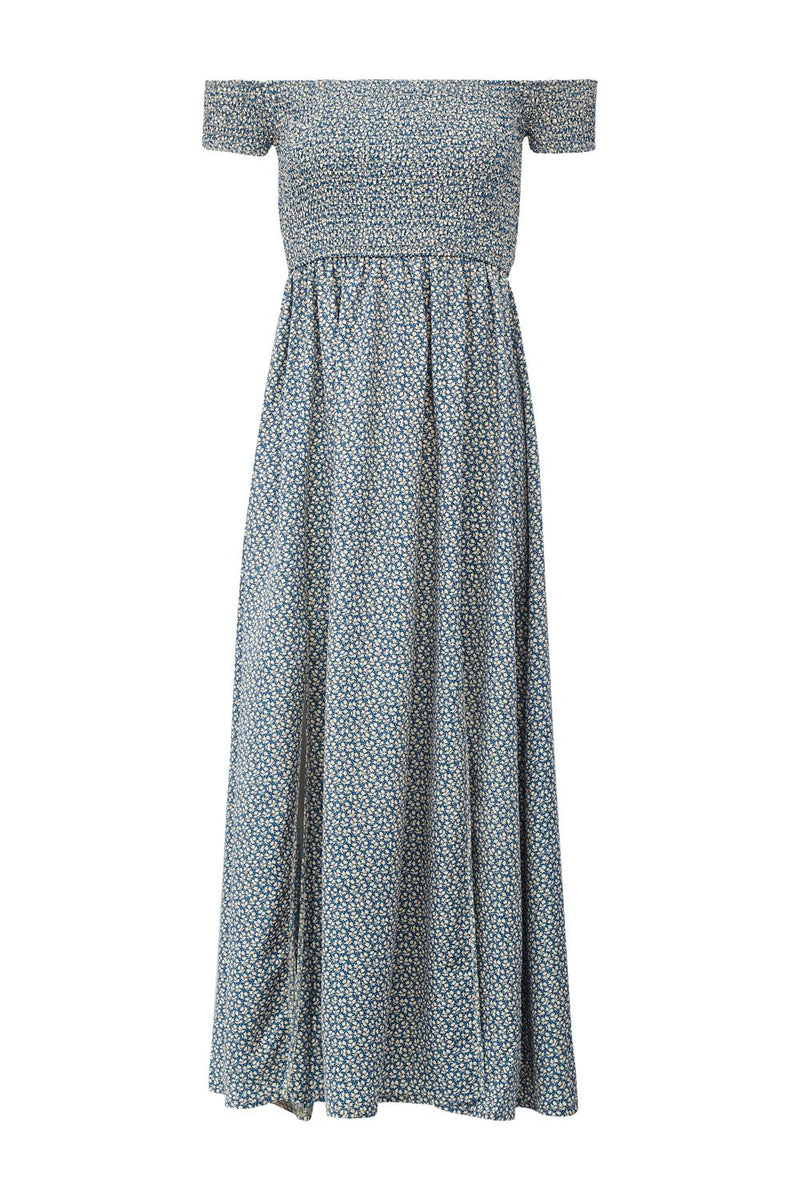 | Floral Bardot Maxi Dress | Izabel London
