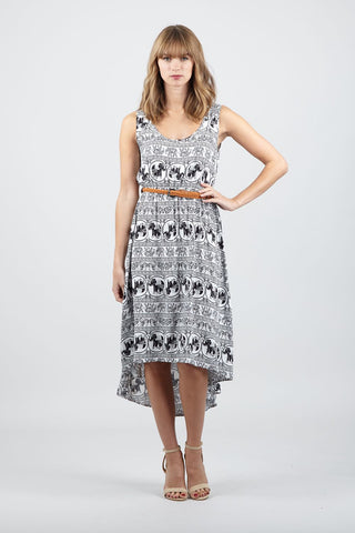 Geo Stripe Shift Dress