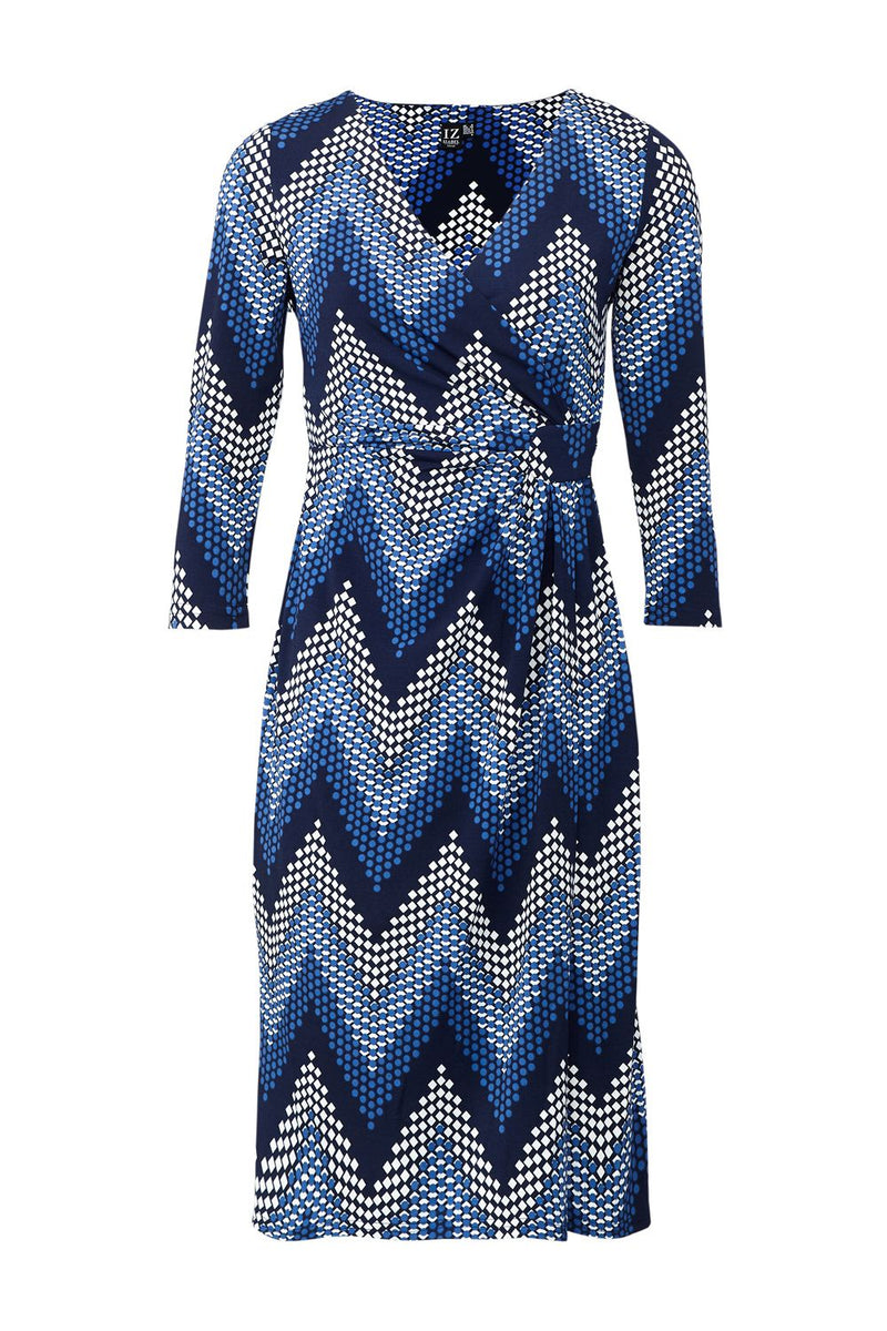 Navy | Chevron Print Wrap Dress