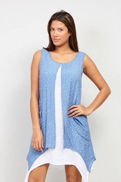 Dotty Tunic Dress - Izabel London