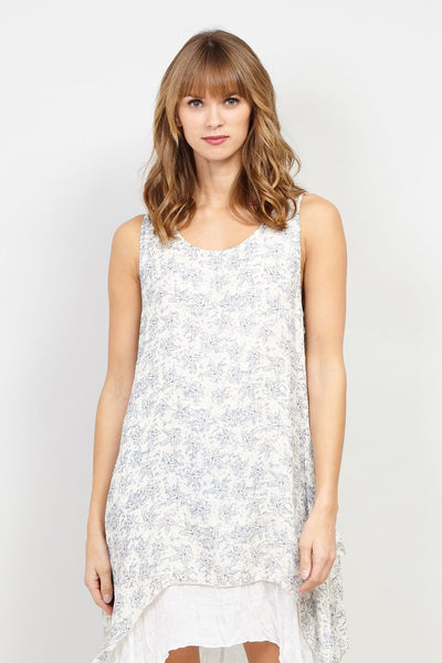 Ditsy Floral Layered Hem Tunic Dress - Izabel London