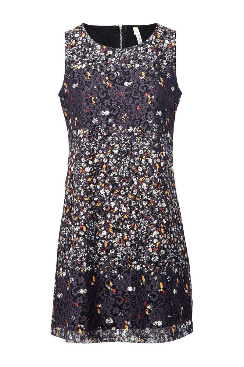 Ditsy Floral Lace Shift Dress - Izabel London