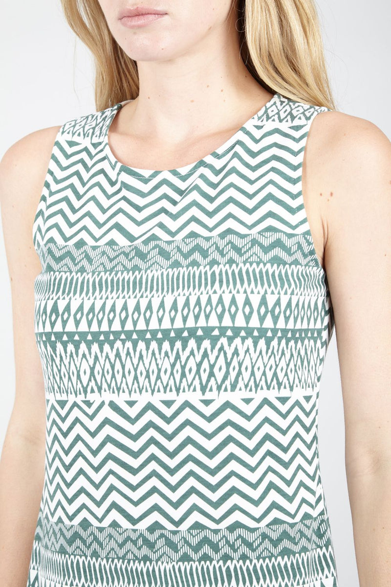 | Aztec Print Shift Dress | Izabel London