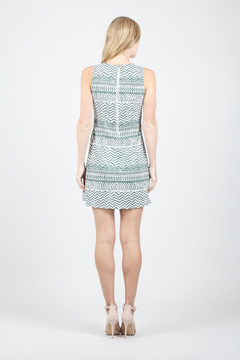 Green | Aztec Print Shift Dress